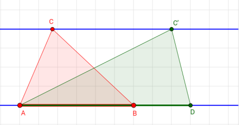 triangles area between parallel lines 2