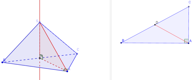 right angle pyramid with right angle triangle base